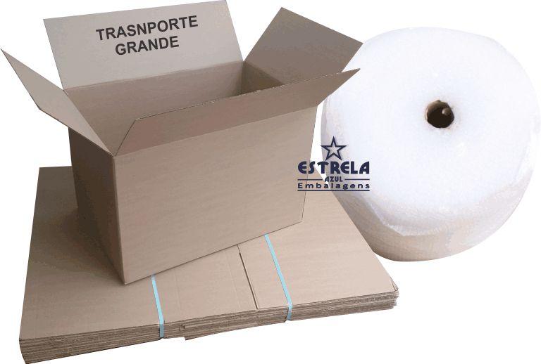 Kit de Caixas transporte e Plástico Bolha