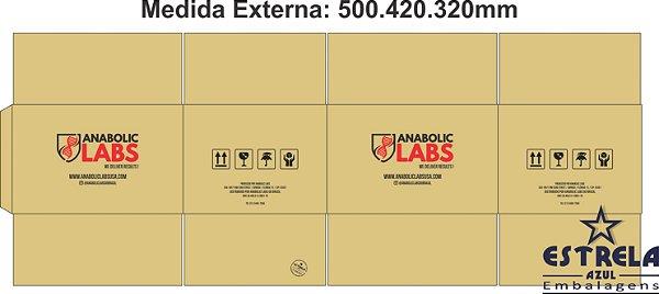 Caixa Transporte Personalizada em 2 cores + Fita Adesiva Impressa