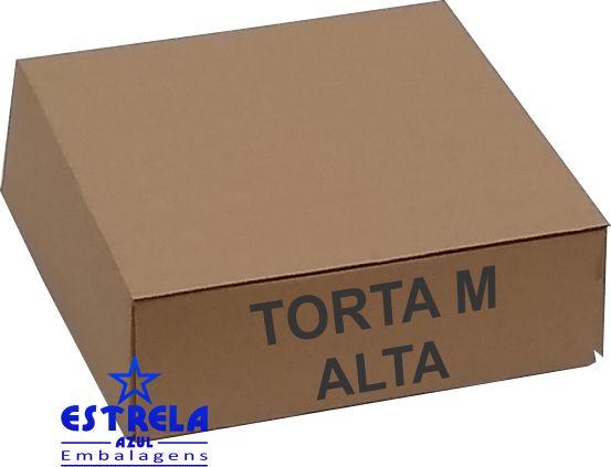 Caixa de Torta M alta. 35x35x13cm