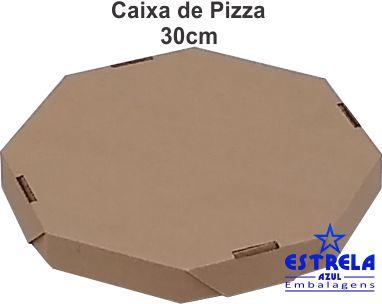 Pizza Parda 30cm Octagonal Med. 30x30x4,5cm