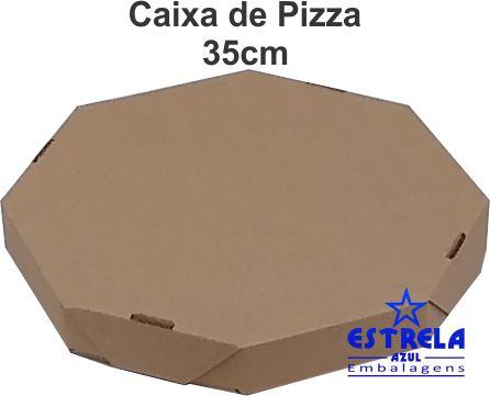 Pizza Parda 35cm Octagonal  Med. 35x35x4,5cm - Ref.70
