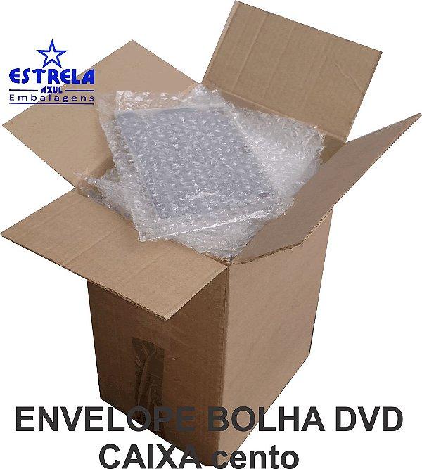 Envelope Plástico Bolha DVD 16x20cm - caixa com 100 unid.