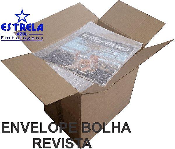 Envelope Plástico Bolha Revista 25x32cm - caixa com 100 unid. - Ref.77