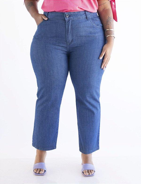 Calça Jeans Plus Size Reta Clássica Julia Plus
