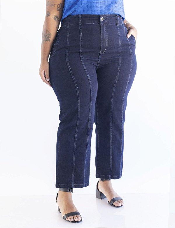 Calça Jeans Plus Size Pesponto Julia Plus