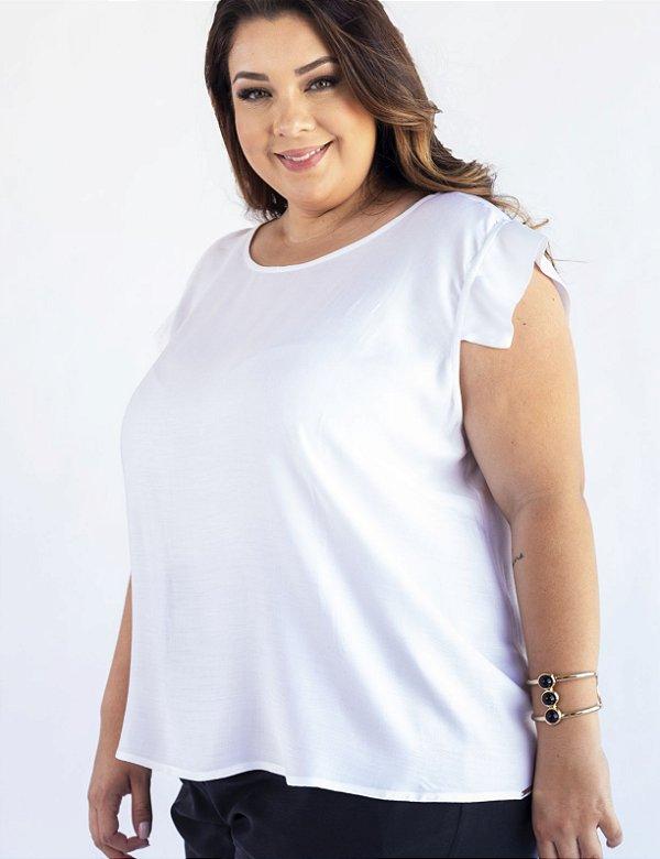 Blusa Plus Size Fechamento Gota nas Costas Julia Plus