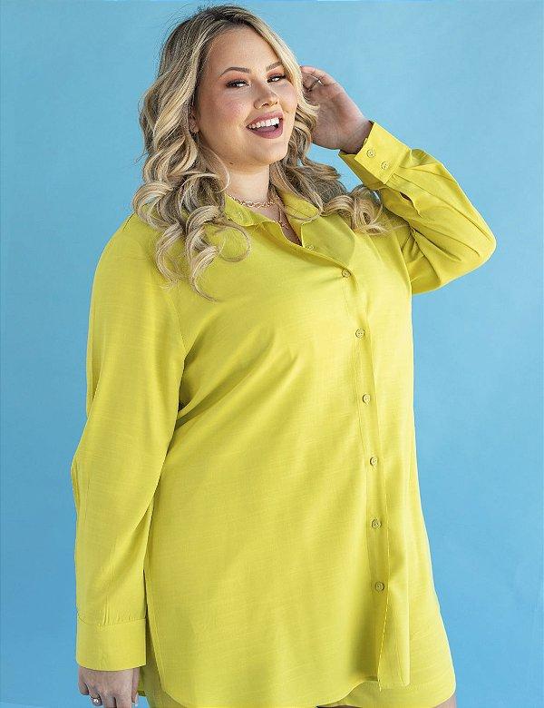 Camisa Plus Size Alongada Julia Plus