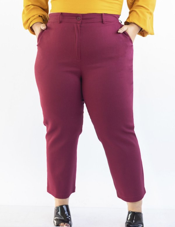 CALÇA PLUS SIZE ALFAIATARIA COLOR JULIA PLUS