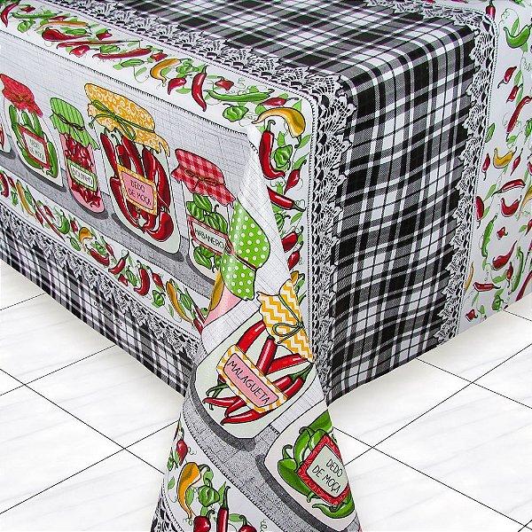 Toalha mesa térmica Peppers por metro com 1,4 metros de largura