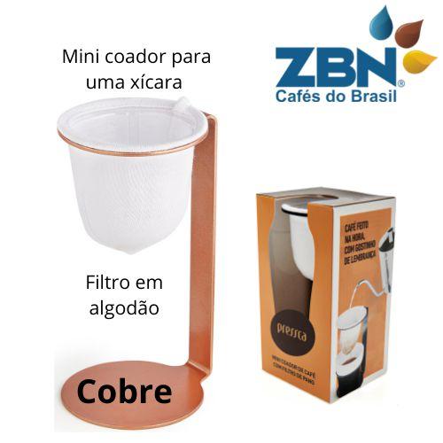 PRESSCA MINI COADOR DE CAFÉ PARA UMA XÍCARA - BRONZE