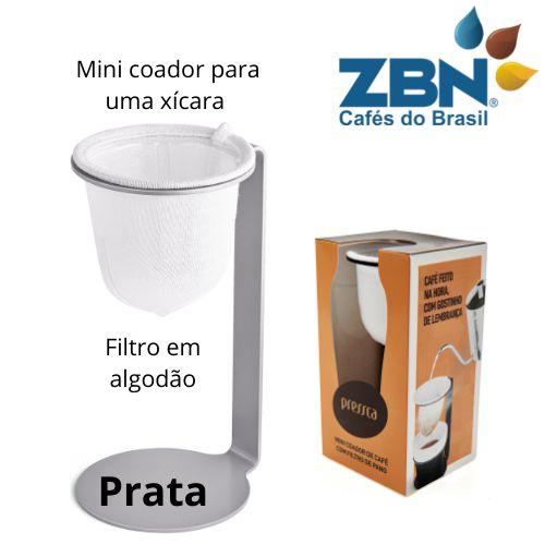 PRESSCA MINI COADOR DE CAFÉ PARA UMA XÍCARA - PRATA