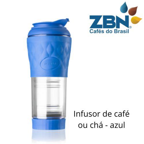 PRESSCA CAFETEIRA E INFUSOR DE CHÁ 350ml - COR AZUL