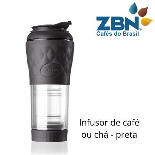 PRESSCA CAFETEIRA E INFUSOR DE CHÁ 350ml - COR PRETA