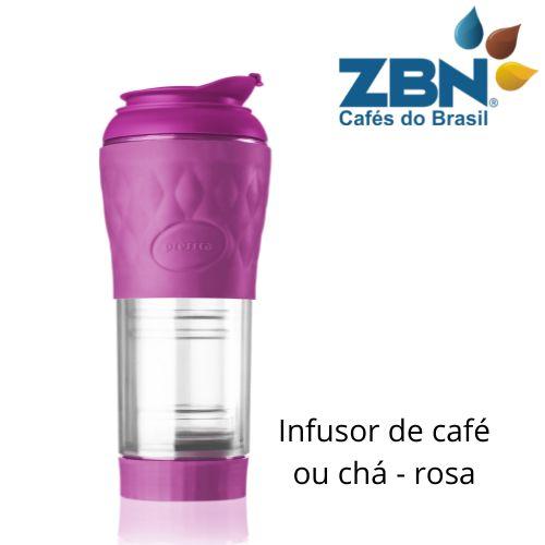 PRESSCA CAFETEIRA E INFUSOR DE CHÁ 350ml - COR ROSA