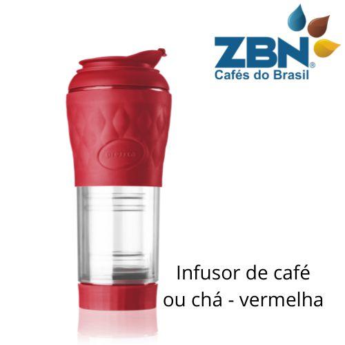 PRESSCA CAFETEIRA E INFUSOR DE CHÁ 350ml - COR VERMELHA