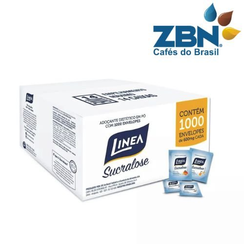 ADOÇANTE EM SACHE SUCRALOSE LINEA 600mg - CX/1000un