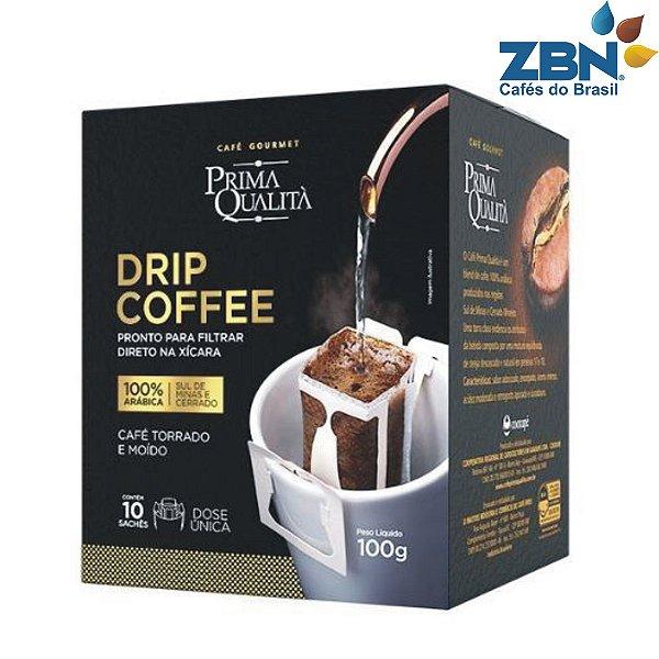 CAFÉ TORRADO E MOIDO GOURMET PRIMA QUALITA EM SACHE DOSE UNICA 10un/10g - DRIP COFFEE