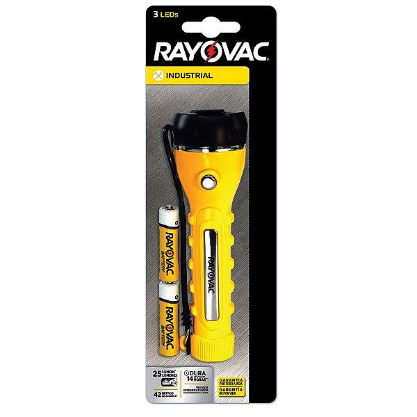 01 Lanterna Profissionais 3 Leds Rayovac