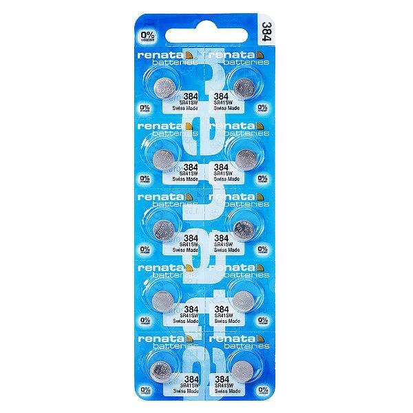 10 Pilhas Baterias 384, Relógio 1.55v Renata Sr41sw Original