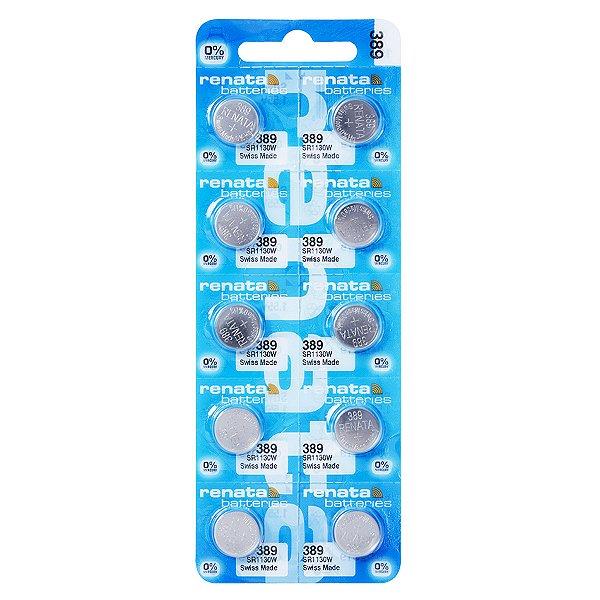 10 Pilhas Baterias 389, Relógio 1.55v Renata Sr1130 Original