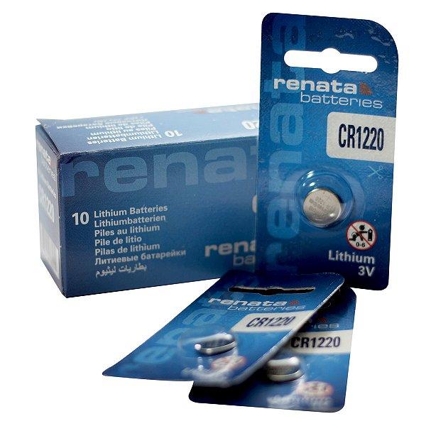 10 Pilhas Baterias 1220, Relógios 3v Renata Cr1220 Original