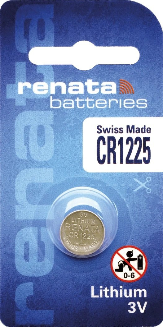 10 Baterias Pilhas Renata Cr1225 - 01 Caixa Com 10 Unidades
