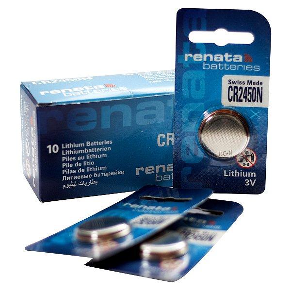 10 Pilhas Baterias 2450, Relógios 3v Renata Cr2450n Original