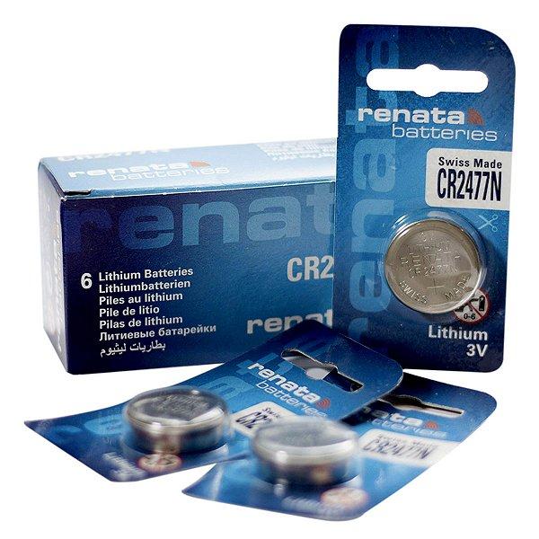 06 Baterias Pilhas Renata Cr2477n - 01 Caixa Com 06 Unidades