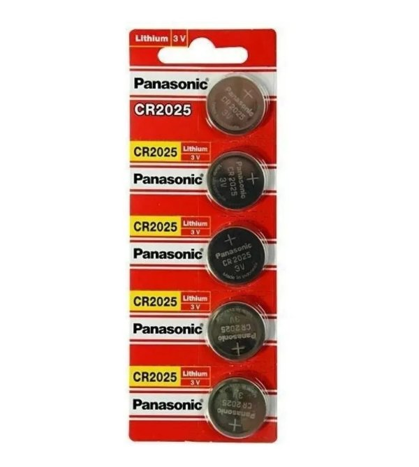 05 Pilhas Baterias Cr2025 3v Panasonic 01 Cartela