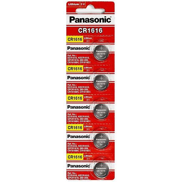 05 Pilhas Baterias Cr1616 3v Panasonic 01 Cartela