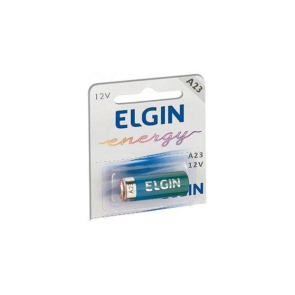 01 Pilha Bateria Elgin 23a 12v A23 Alcalina 1 Cartela