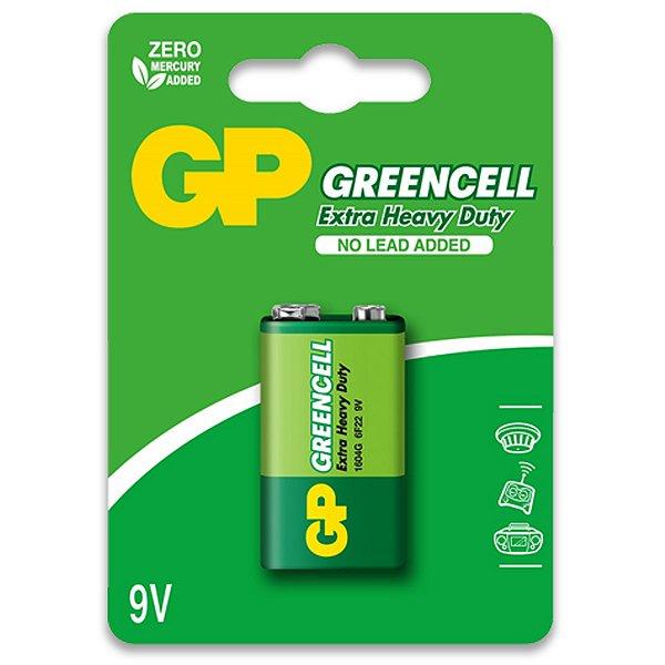 01 Pilha Bateria 9v Comum Zinco Gp GREENCELL 01 Cartela