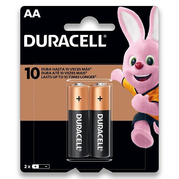 02 Pilhas AA Pequena Duracell Duralock Alcalina Embalagem C/2 Unids