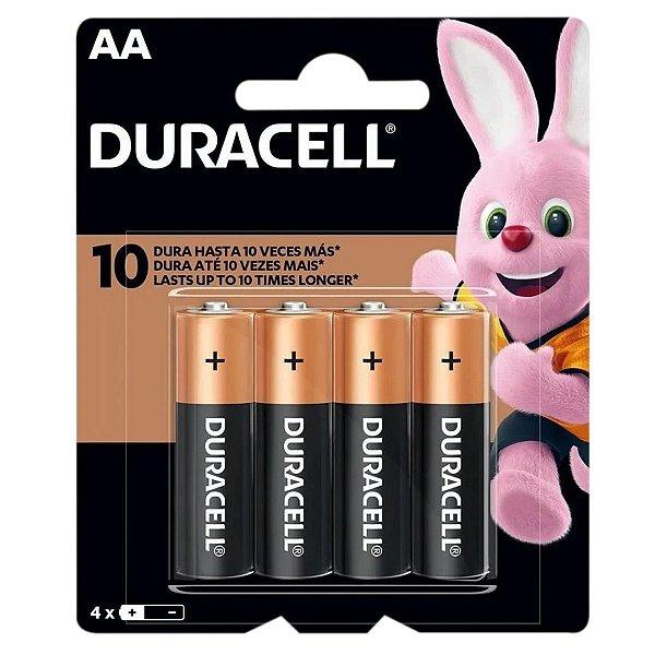 4 Pilhas AA Pequena Duracell Duralock Alcalina Embalagem C/4 Unids