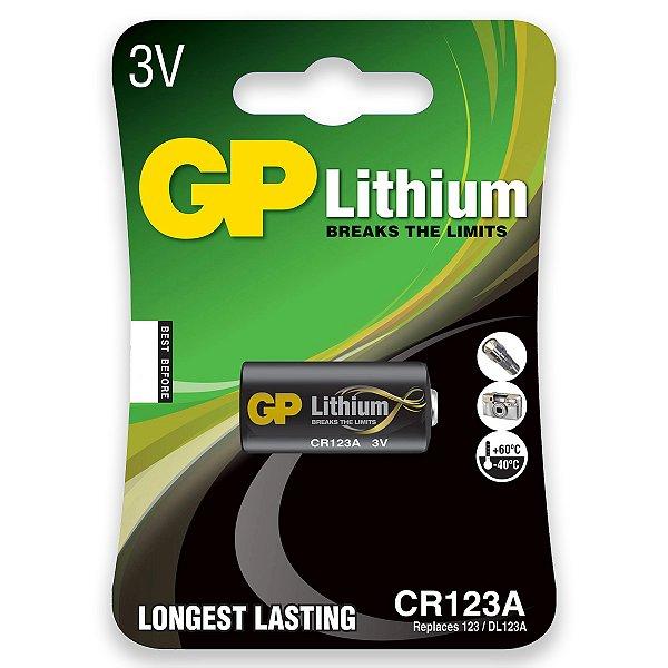 01 Pilha Cr123a 3v Gp - 01 Cartela Com 1 Unidade
