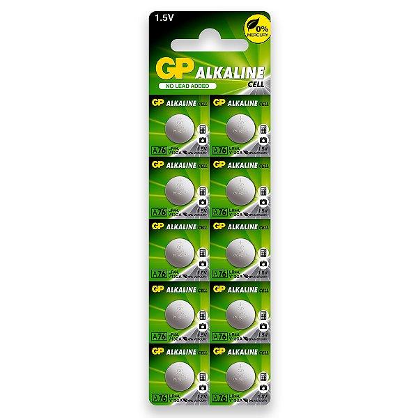 10 Pilhas Baterias Lr44 A76 Ag13 Alcalina Gp - 01 Cartela