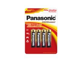 04 Pilhas AA Pequena Alcalina Panasonic 1 Cartela