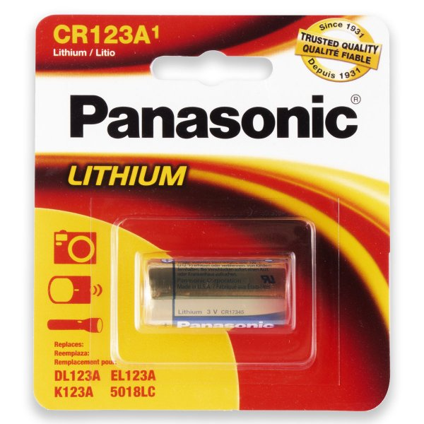 01 Pilha Panasonic Cr123a 3v Bateria 1 Cartela