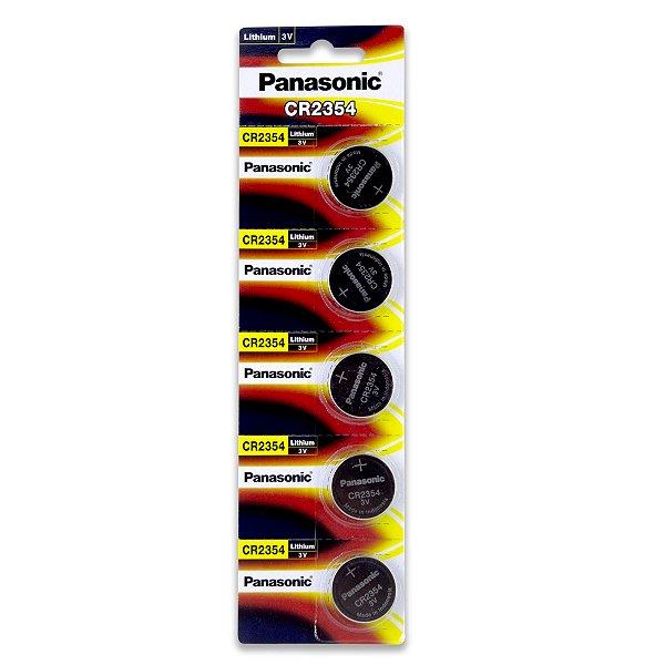 05 Pilhas Panasonic Cr2354 3v Bateria Original 1 Cartela