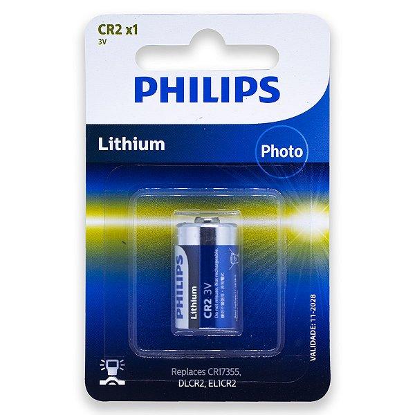 01 Pilha Philips Cr2 3v Bateria 1 Cartela