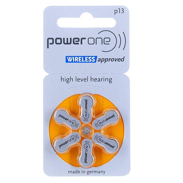 06 Pilhas Baterias P 13 Pr48 Aparelho Auditivo - Power One