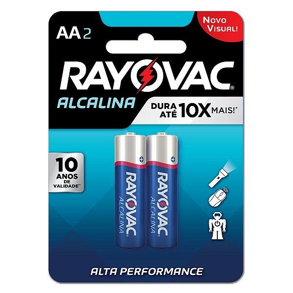 02 Pilhas AA Pequena Alcalina Rayovac 1 Cartela