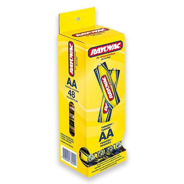 48 Pilhas AA Pequena Comum Zinco Carvão Rayovac 1 Tubo