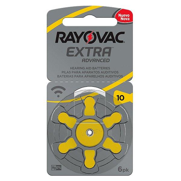 06 Pilhas Baterias 10 Pr70 Aparelho Auditivo Rayovac