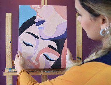Pinte a tela Acalento