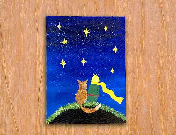Pinte a tela Pequeno Príncipe