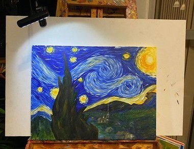 Pinte a tela Noite Estrelada