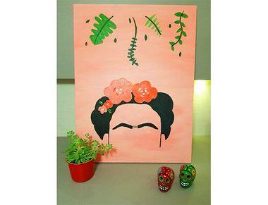 Pinte a tela Frida