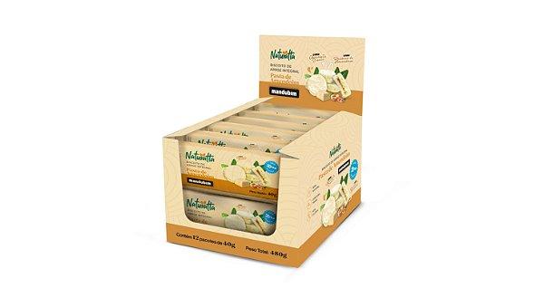 Display 12 Unidades Biscoito de Arroz Integral com Pasta de Amendoim e Chocolate Branco 480g
