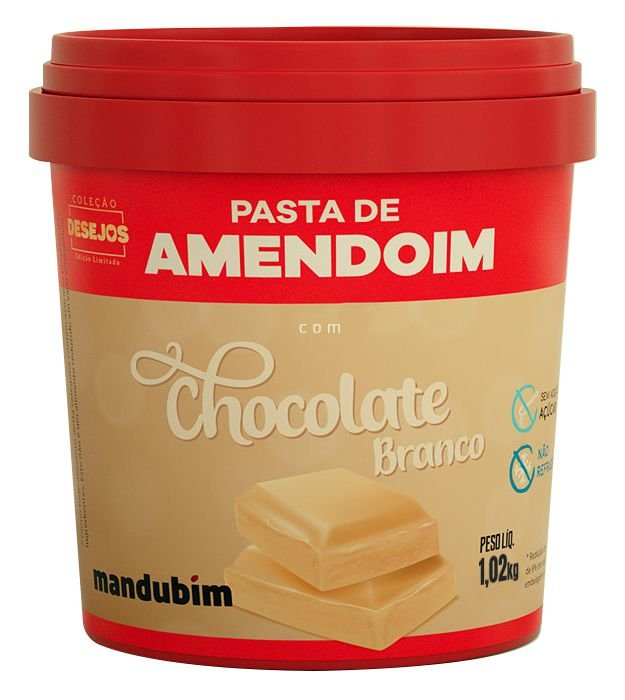 Pasta de Amendoim com Chocolate Branco 1,02 Quilos